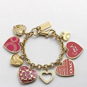 Coach Multi Heart Charm Bracelet